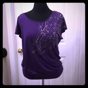 XL Charlotte Russe purple top